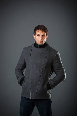 Куртка мужская из кашемира Косуха довяз серый