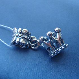 Шарм-подвеска серебряная Корона для браслета Пандора