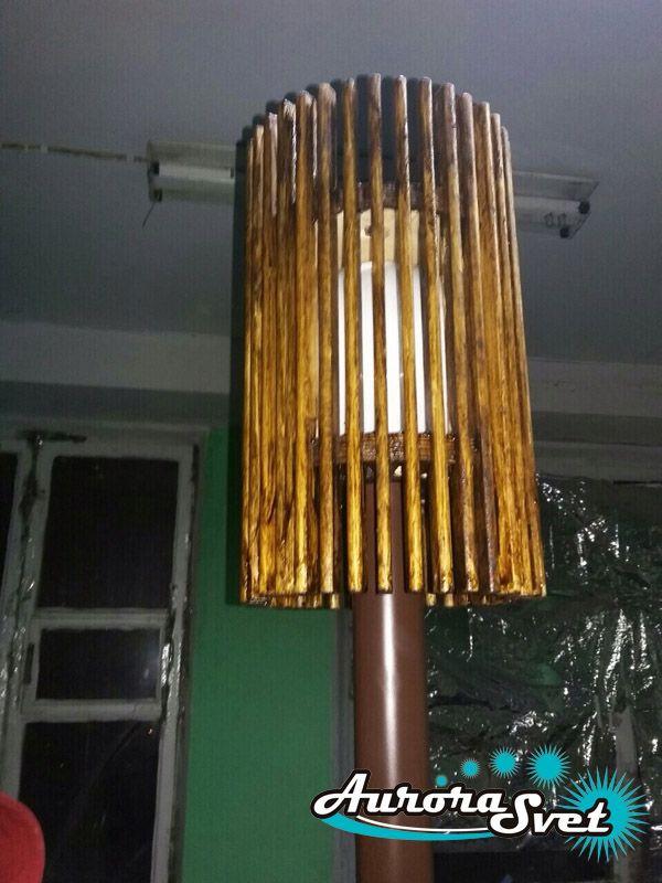 Підлоговий Торшер D1. LED світильник з дерева. Світлодіодний світильник з дерева.