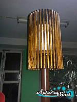 Торшер напольный D1. LED светильник из дерева. Светодиодный светильник из дерева.