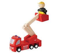 """Деревянная игрушка """"Пожарная машина"""", PlanToys"""
