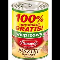 Паштет Pamapol свинний 100% ж/б 390г