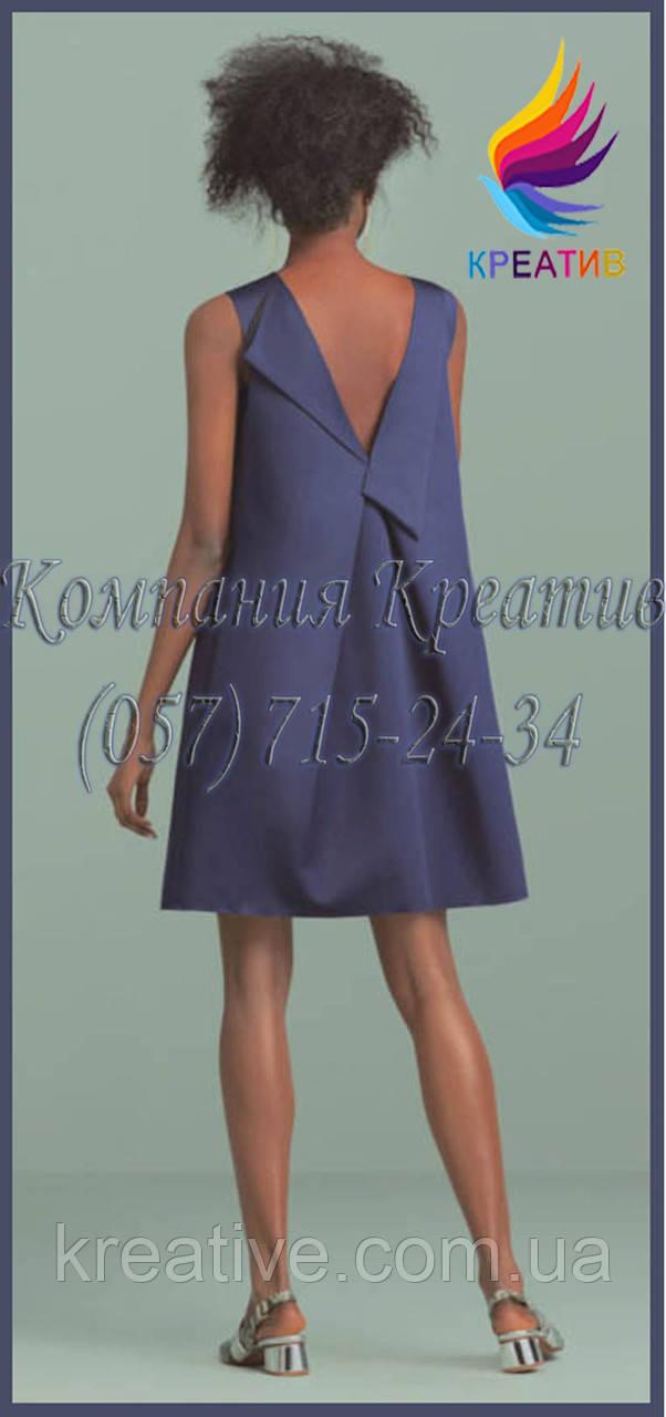 Свободное платье с вырезом на спине под заказ (от 50 шт.)