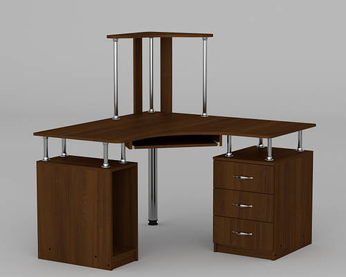 Угловой компьютерный стол с надстройкой СУ - 6