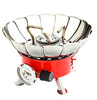 Плита портативная с лепестками от ветра