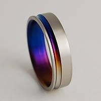 """Обручальное титановое кольцо """"Радуга"""" от WickerRing."""
