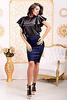 Атласная блуза  ля065