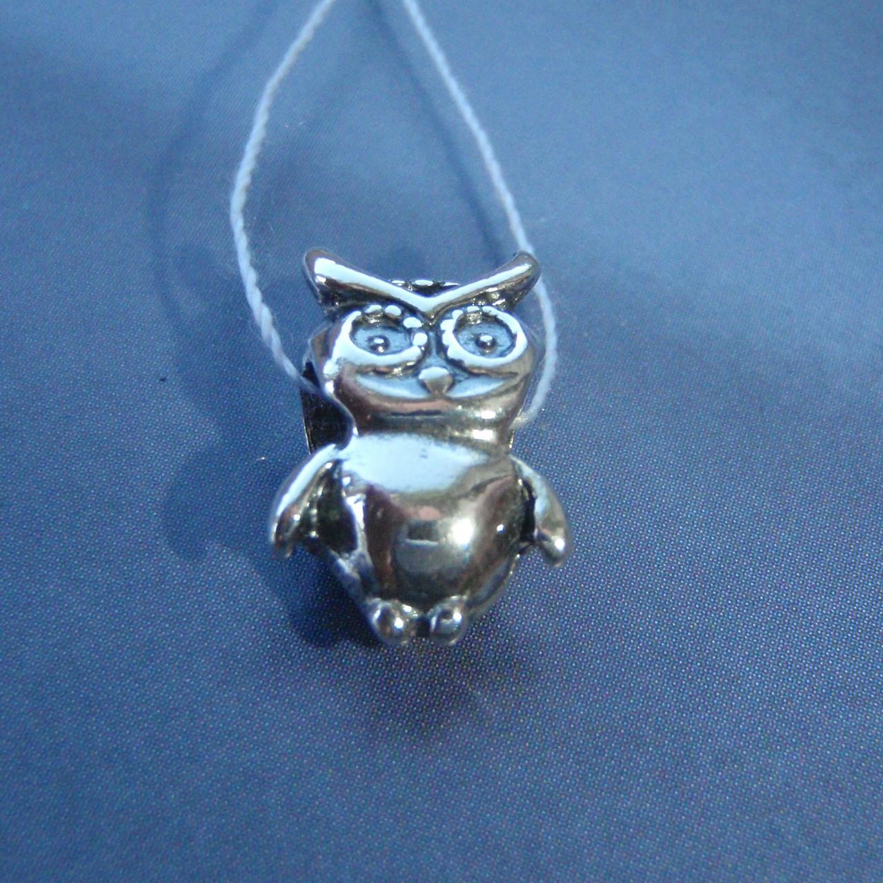 Шарм серебряный Сова для браслета Пандора
