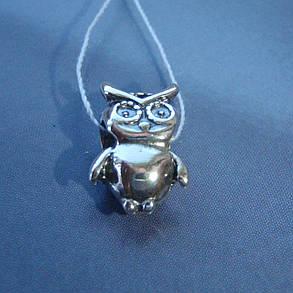 Шарм срібний Сова для браслета Пандора, фото 2