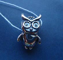 Шарм серебряный Сова для браслета Пандора, фото 3