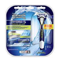 Wilkinson Sword Hydro 5 Power Select станок для бритья c 1 сменным картриджем+Сменные кассеты 4 шт+Батарейка