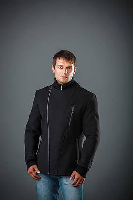 Куртка мужская из кашемира Косуха довяз черный