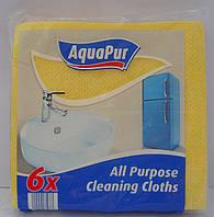 Губка ( салфетка ) для мытья посуды AquaPur 6 шт. уп.