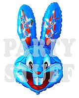 Фигурный воздушный шар Бакс Банни синий, 74 см