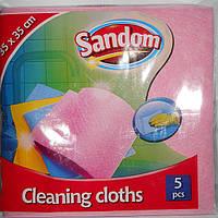 Губка ( салфетка ) для мытья посуды и уборки Sandom 5шт.уп.