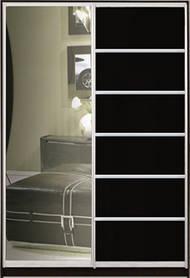 """Шафа-купе """"СТАНДАРТ 3"""" з фасадом 6/27 зеркало+венге"""