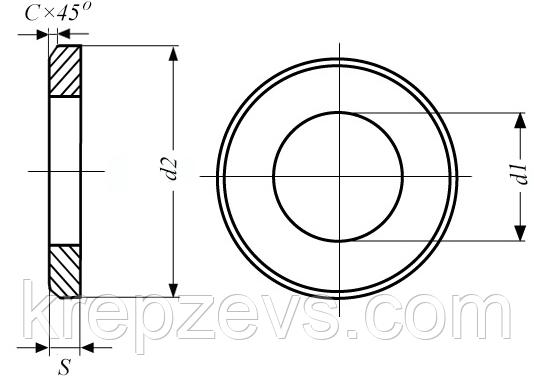 Картинки по запросу Шайбы для фланцевых соединений ГОСТ 9065-75