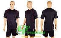 Футбольная форма для команд без номера CO-3119-BK (р-р M, L, XXL, черный, шорты черные)