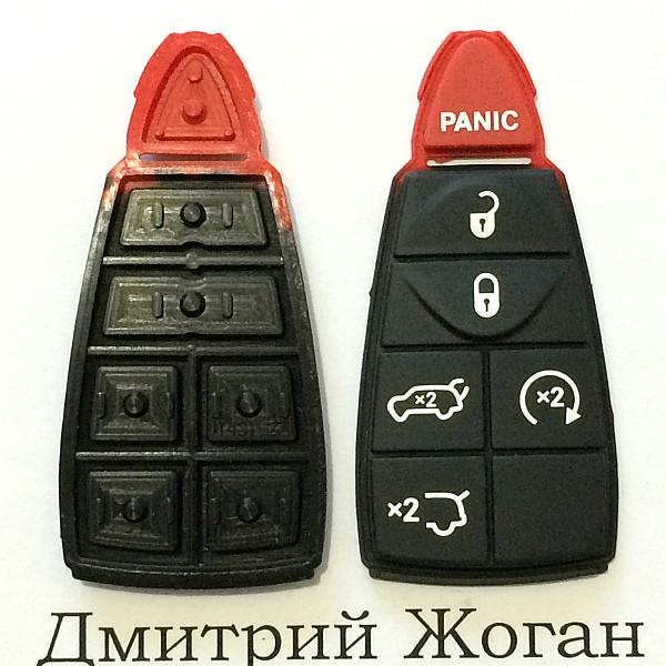 Кнопки для смарт ключа Jeep (Джип) 5 кнопок + 1 (panic)