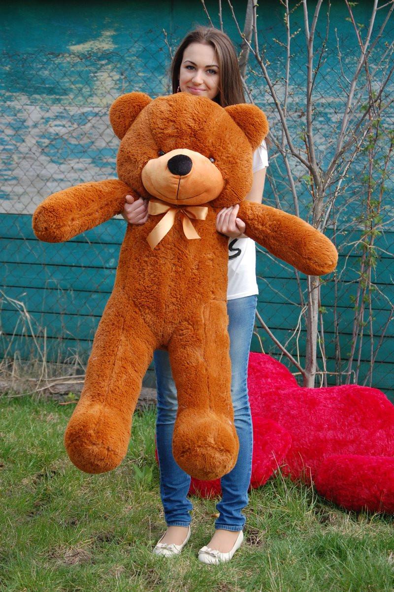 Мишка плюшевый коричневый 140 см