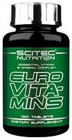 Витамины и минералы Euro Vita-Mins Scitec Nutrition (120 tab)