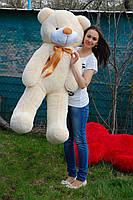 Мишка плюшевый персиковый 140 см