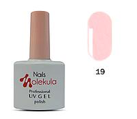 Гель-лак Nails Molekula №19 нежно-розовый френч