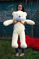 Мишка плюшевый кремовый цвет 140 см
