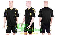 Форма футбольная без номера CO-3116-BKY (р-р L-XXL, черный, шорты черные)