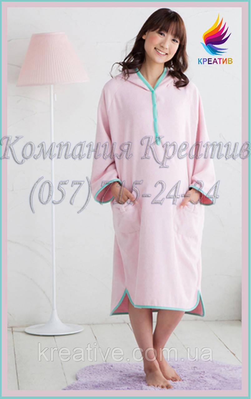 Домашний халат - пончо из флиса под заказ (от 50 шт.)