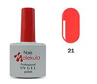 Гель-лак для ногтей Nails Molekula №21 кирпично-красный