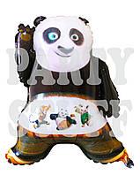 Фольгированный шар Панда Кунг-Фу, 60*50 см