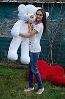 Мишка плюшевый Тедди белый 120 см