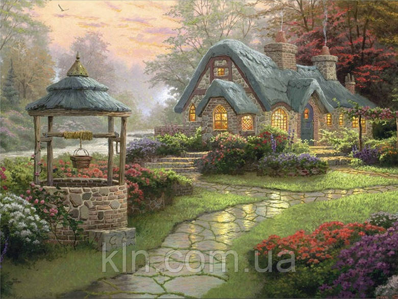 Алмазная вышивка Лесной домик KLN 50*40 см (арт. FS464)