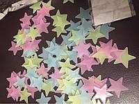 Интерьерная наклейки на стену (011)  Разноцветные звездочки