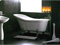 Ванна на львиных лапах с сифоном и ножками EAGO GFK1700-1
