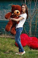Мишка плюшевый Тедди цвет шоколад 120 см