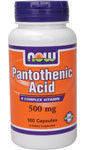 Купить Пантотеновая Кислота (Pantothenic Acid) 100 капсул для снижения веса в Киеве, Украине 500 мг
