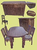Кухонная мебель из дерева.