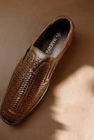 Туфли мужские, коричневые