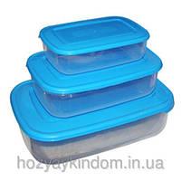 Набор прямоугольных пищевых контейнеров Консенсус