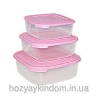 Набор квадратных пищевых контейнеров Консенсус