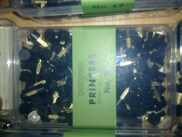 Набойки полиуретановые женские со штырьком PRINCESS Австрия  №R13 черн.