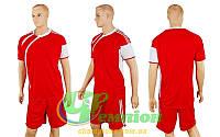 Форма футбольная без номера CO-307-R (р-р M, XXL, красный, шорты красные)