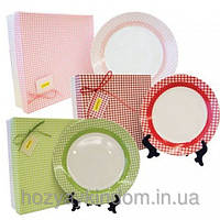 Набор фарфоровых тарелок Клетка Maestro MR 10009-01