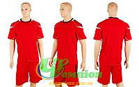 Форма футбольная без номера CO-3110-R (р-р M-L, красный, шорты красные)