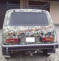 Защита заднего бампера  дуга (крашенная) без калитки с защитой фонарей D60 на Lada Niva 2121-21214