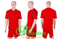 Форма футбольная без номера CO-3116-R (р-р XL, XXL, красный, шорты красные)