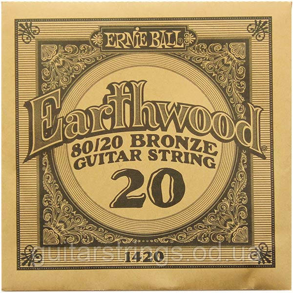 Струна Ernie Ball 1420 Earthwood 80/20 Bronze .020 (акустика)