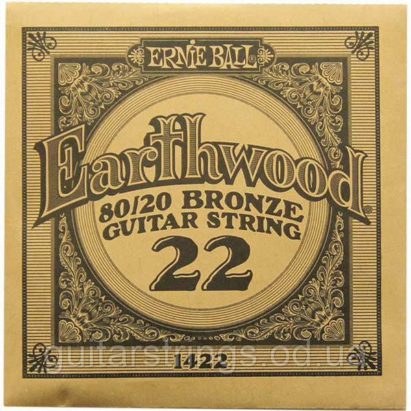 Струна Ernie Ball 1422 Earthwood 80/20 Bronze .022 (акустика)